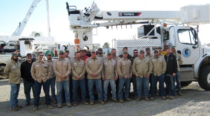 CCECC sponsored High Voltage Lineman Training